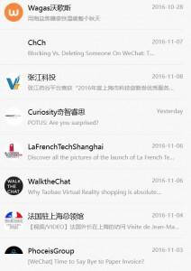 Comptes Abonnement WeChat
