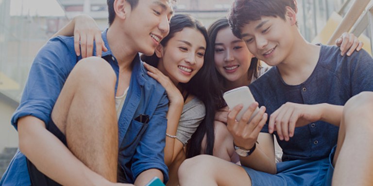 Chinese Millennials on their mobile