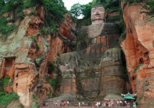 Leshan the biggest buddha close from chengdu