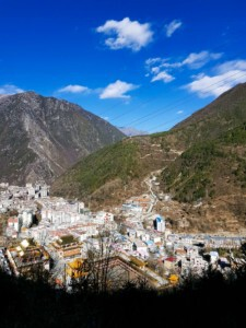 Discover kangding from the top of moutains